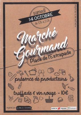 Marché Gourmand Flyer Saint Cyprien Toulouse